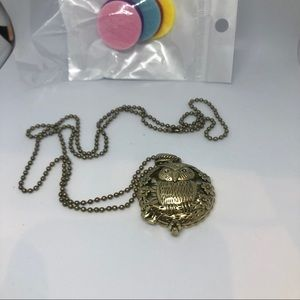 Jewelry - Necklace Aromatherapy Owl Chain with Aroma Disks